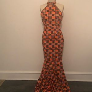 Dresses - Limited Edition  Diyanu Kente Halter Mermaid Dress